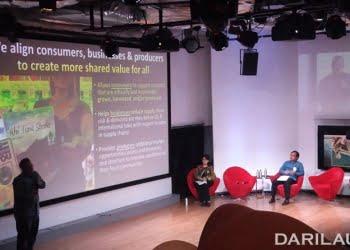 Konsultan Fair Trade, Sven Blankenhorn, dalam seri talkshow yang selenggarakan USAID-SEA bekerja sama dengan KKP di Pacific Place Mall Rabu (11/7) di Jakarta. FOTO: DARILAUT.ID