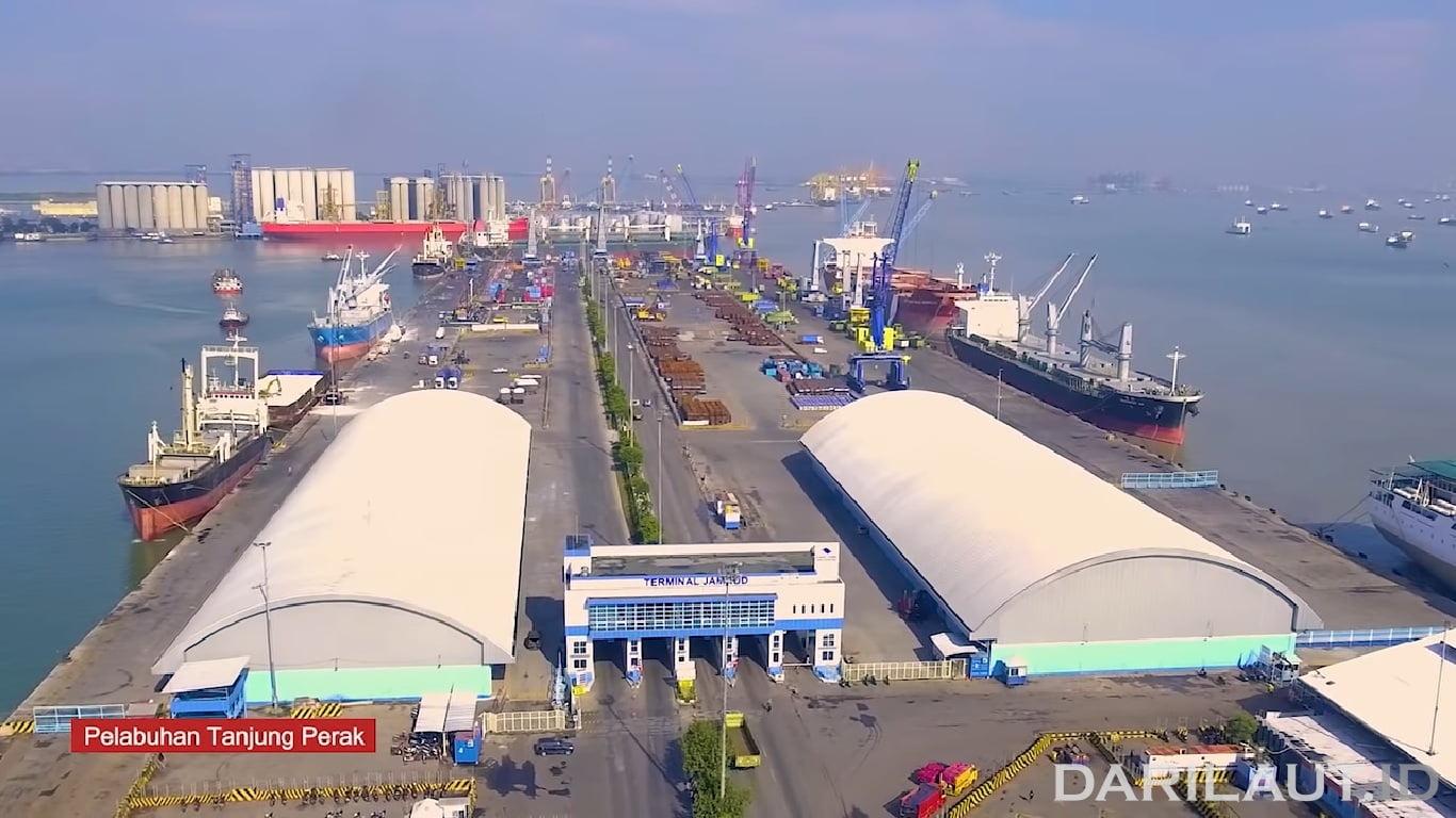Pelabuhan Tanjung Perak sebagai pelabuhan pangkal/asal dengan rute ke Indonesia Timur. FOTO: DOK. KEMENHUB