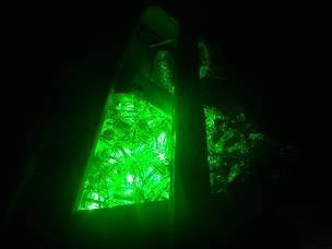 Lampu LED hijau yang bisa terdeteksi oleh penyu. FOTO: WWF-INDONESIA.