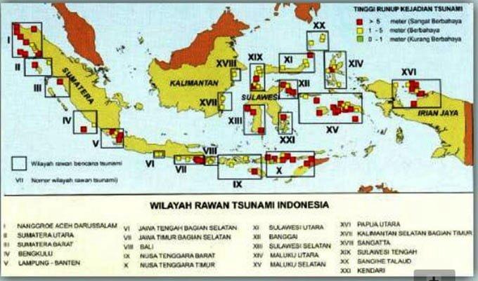 peta rawan tsunami