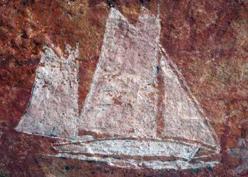 Lukisan pinisi di Australia