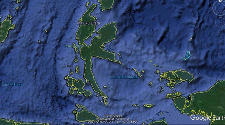 Laut Halmahera. Google Earth