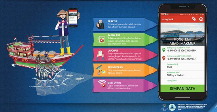 Tampilan perangkat e-log book penangkapan ikan Indonesia. DJPT KKP