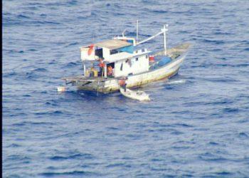 Kapal perikanan asal Lembeh Selatan, Kota Bitung KM Aleluya. FOTO: US COAST GUARD/PACOM.MIL