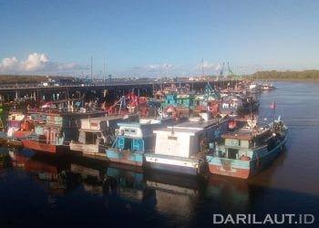 kapal perikanan di PPN Merauke. FOTO: DARILAUT.ID