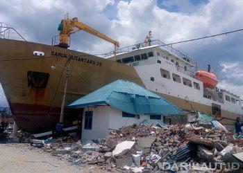 Pelabuhan Wani, setelah terjadi gempabumi dan tsunami 28 September 2018. FOTO: DARILAUT.ID