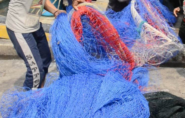 Ilustrasi jaring trawl, alat penangkap ikan yang tidak ramah lingkungan. FOTO: KKP