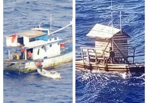 Rumpon yang dijaga Aldi Novel Adilang hanyut pada 14 Juli 2018 dan kapal ikan KM Aleluya hanyut 27 Juli 2019 di perairan utara Sulawesi mengikuti pola arus Eddy. KM Aleluya. FOTO: US COAST GUARD/PACOM.MIL. Rumpon. FOTO: ISTIMEWA