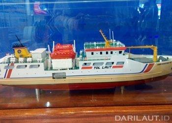 Prototipe kapal untuk tol laut dalam Pameran Inamarine 2019. FOTO: DARILAUT.ID