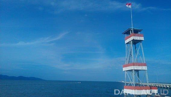 Perbatasan Indonesia dan Malaysia di Pulau Sebatik. FOTO: DARILAUT.ID