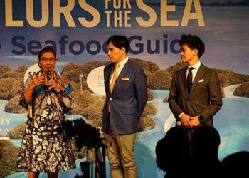 "Founder Pandu Laut Nusantara Susi Pudjiastuti,sebagai pembicara  di forum global ""Leading Women for the Ocean"" di Yokohama Jepang, Selasa (5/11). ISTIMEWA"