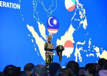 Menteri Luar Negeri Retno Marsudi, saat memberikan Pernyataan Pers Tahunan Menteri Luar Negeri 2020 (PPTM) di Ruang Nusantara, Kementerian Luar Negeri Rabu (8/1). FOTO: KEMLU.GO.ID