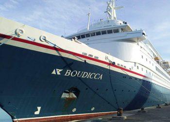 Kapal Cruise MV Boudicca. FOTO: DITJEN PERHUBUNGAN LAUT