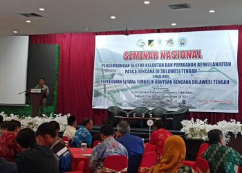 "Seminar ""Pengembangan Sektor Kelautan dan Perikanan Pascabencana Sulawesi Tengah"" diselenggarakan Ikatan Sarjana Kelautan Indonesia (ISKINDO) dan Banyaan Tree Global Foundation (BTGF) di Palu, Kamis (5/3). FOTO: ISTIMEWA"