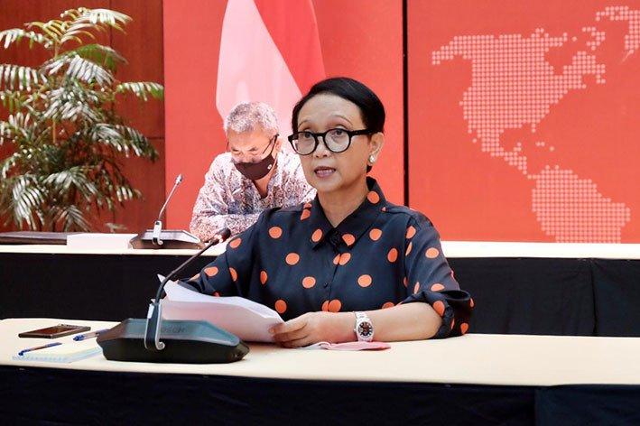 Menteri Luar Negeri Retno Marsudi. FOTO: KEMLU