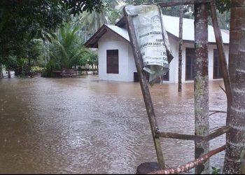 Ilustrasi kondisi Banjir di Kabupaten Aceh Jaya, Selasa (28/7/2020). FOTO: BPBA Provinsi Aceh/BNPB