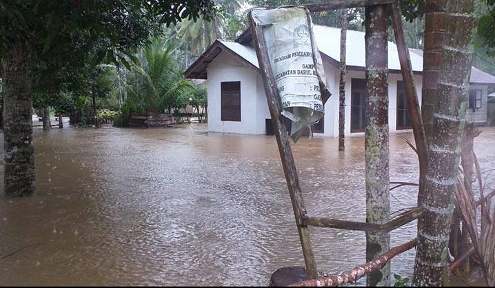 Kondisi Banjir di Kabupaten Aceh Jaya, Selasa (28/7). FOTO: BPBA Provinsi Aceh/BNPB