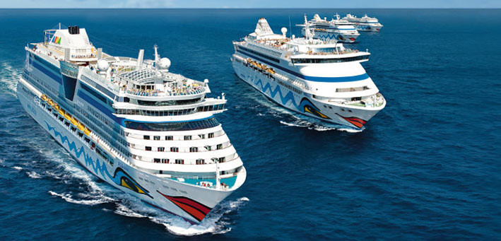 Ilustrasi kapal pesiar AIDA Cruises. FOTO: AIDA.DE