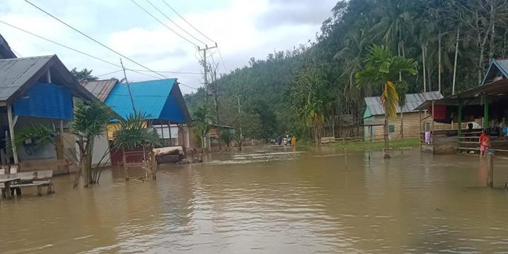 Banjir merendam 8 desa di Kabupaten Konawe Utara, Sulawesi Tenggara Sabtu (11/7). FOTO: BPBD KONAWE UTARA/BNPB