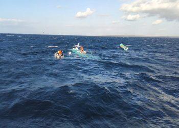 Kapal perikanan Kasih 025, tenggelam Minggu (5/7) di perairan Kupang. FOTO: DOK. DITJEN HUBLA