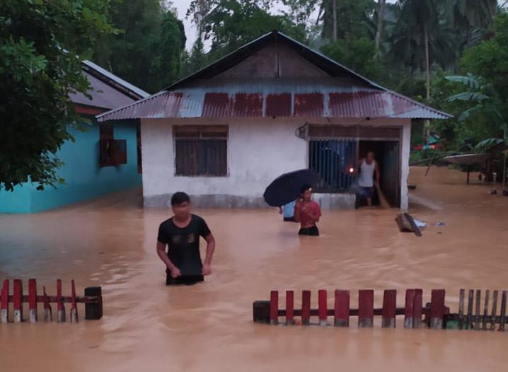 Banjir di Kabupaten Bolaang Mongondow Selatan. FOTO: BPBD Bolaang Mongondow Selatan/BNPB