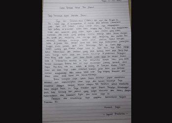 Surat terbuka untuk Pak Jokowi. FOTO: DOK. FISHER CENTER