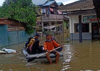 Banjir melanda 2 kabupaten di Provinsi Kalimantan Selatan, awal September 2020. FOTO: BNPB