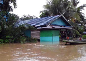 Banjir di Kabupaten Kotawaringin Timur, Kalimantan Tengah. FOTO: BPBD Kotawaringin Timur/BNPB