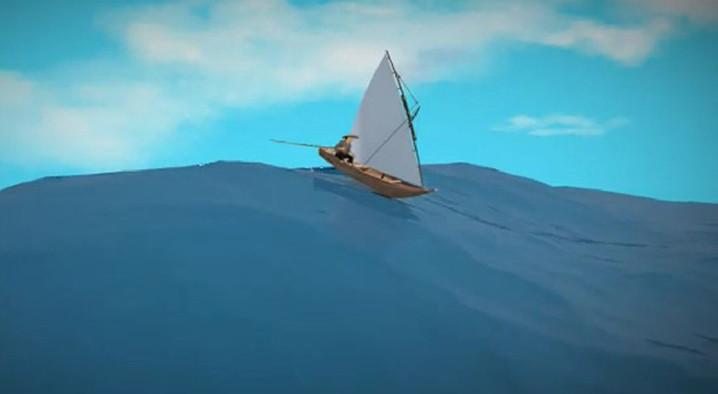 Ilustrasi Ayo Kita Siaga Tsunami. ISTIMEWA