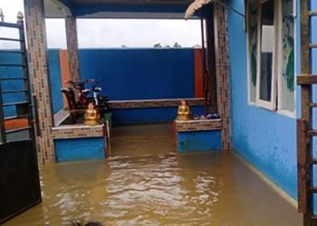 Banjir di 4 kecamatan Kabupaten Nunukan, Kalimantan Utara. FOTO: BPBD Kabupaten Nunukan/BNPB
