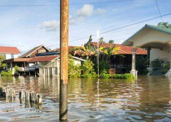 Kondisi Banjir Yang Melanda Kabupaten Kapuas Hulu. FOTO: BPBD Kapuas Hulu/BNPB