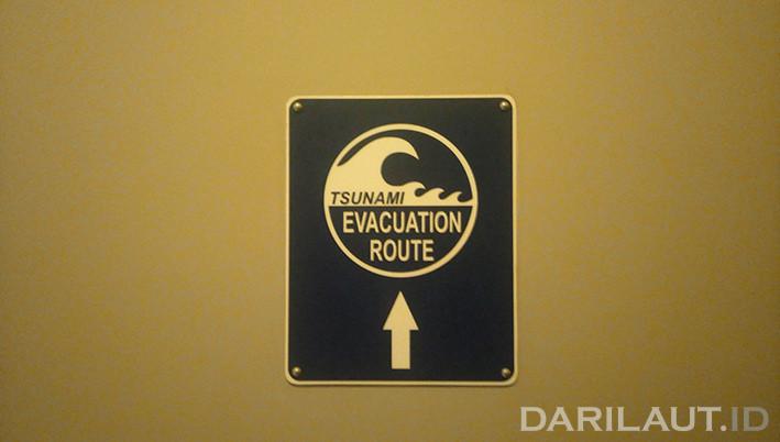 Rute evakuasi tsunami. FOTO: DARILAUT.ID