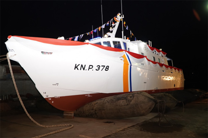 Kapal patroli KNP 378. FOTO: DITJEN HUBLA