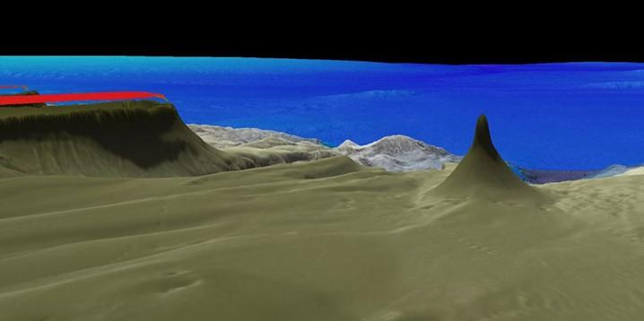 Struktur terumbu karang raksasa yang baru ditemukan di Queensland, Australia, 20 Oktober 2020. GAMBAR: SCHMIDT OCEAN INSTITUTE