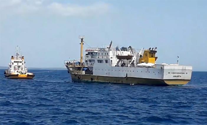 Ilustrasi KM Sabuk Nusantara 55 rusak kemudi di Perairan Pulau Kera Nusa Tenggara Timur. FOTO: DITJEN HUBLA