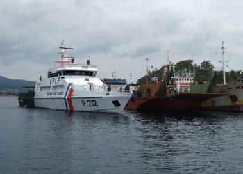 pemulangan awak kapal perikanan melalui Pelabuhan Bitung, Sulawesi Utara. FOTO: KEMLU