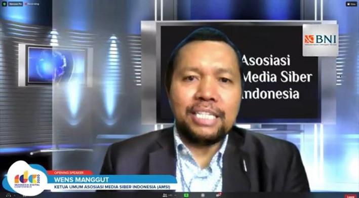 Ketua Umum AMSI Wenseslaus Manggut. FOTO: AMSI