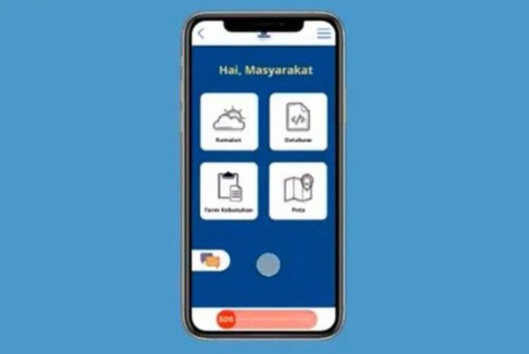 Aplikasi Flood di ponsel untuk mitigasi bencana banjir di DKI Jakarta. FOTO: UI.AC.ID