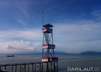 Batas teritorial Indonesia dan Malaysia di Pulau Sebatik. FOTO: DARILAUT.ID
