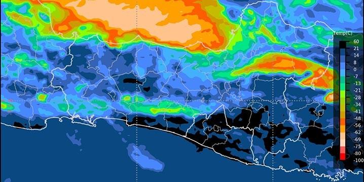 Hasil pantauan satelit BMKG terhadap dentuman yang didengar oleh masyarakat Kota Malang pada Selasa malam (2/2) dan Rabu dini hari (3/2). BMKG