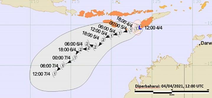 Bibit siklon tropis 99S. TCWC-BMKG
