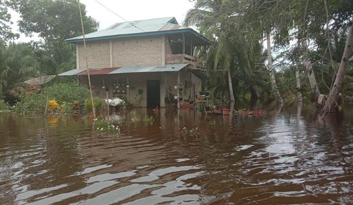 Banjir di Kecamatan Trumon Tengah, Kabupaten Aceh Selatan, Provinsi Aceh, Jumat (21/5). FOTO: BPBD Kabupaten Aceh Selatan/BNPB