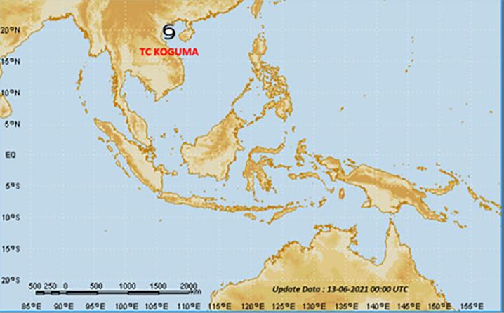 Siklon Tropis Koguma. TCWC Jakarta-BMKG