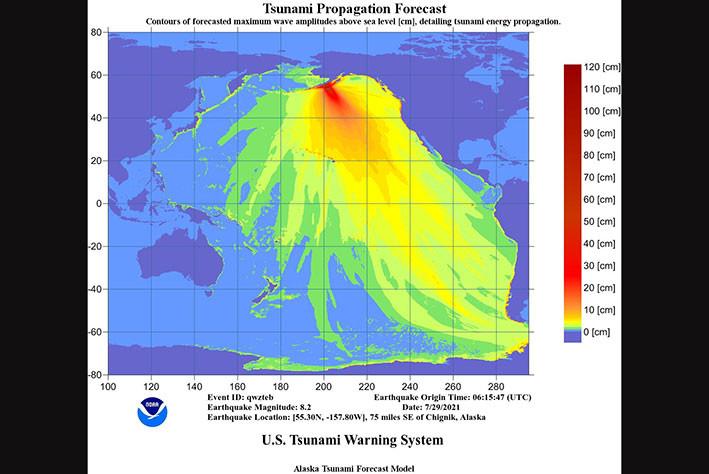 NWS Tsunami Alerts/TWITTER