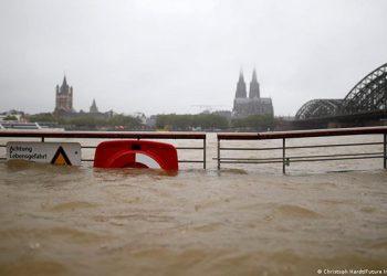 Sedikitnya 20 orang tewas akibat banjir di negara bagian Nordrhein-Westfalen. FOTO: VIA DW.COM