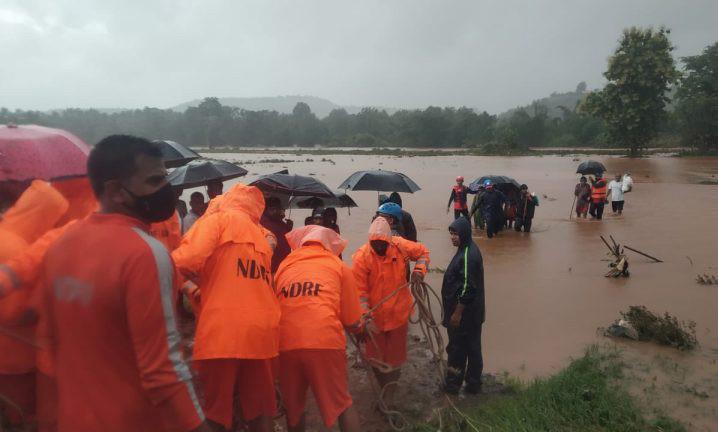Banjir di India. FOTO: NDRF/FLOODLIST.COM