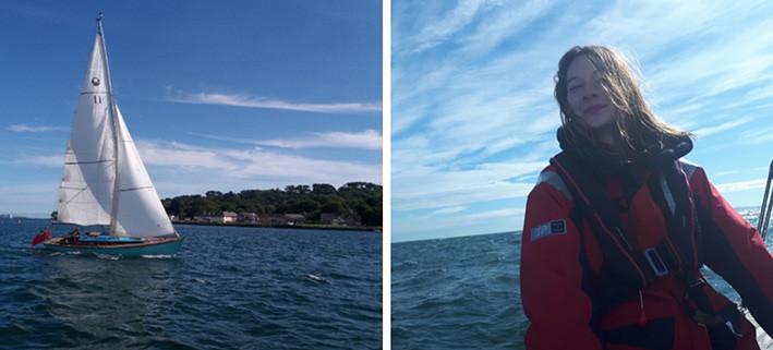 Katie Mccabe, berusia 14 tahun, berlayar sendirian dengan kapal kayu mengelilingi perairan Inggris. FOTO: JUSTGIVING.COM