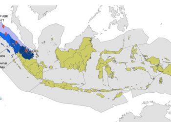 Provinsi di sekitar wilayah pengelolaan perikanan (WPPNRI) 571. ILUSTRASI: SUHANA
