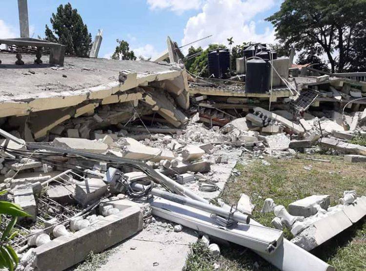 Gempa sangat kuat magnitudo 7,2 mengguncang Haiti Sabtu 14 Agustus 2021. FOTO: LENOUVELLIST.COM
