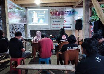 Launching dan nonton bareng film Sangihe Not For Sale. FOTO: AMSI Sulawesi Utara
